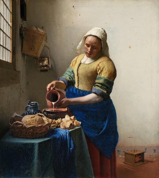 Johannes Vermeer_The Milkmaid_1658