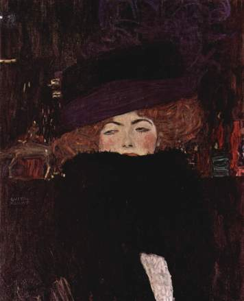 G. Klimt, Lady with Hat and Featherboa, 1909 3