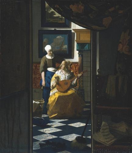 The_Love_Letter_1669, Vermeer