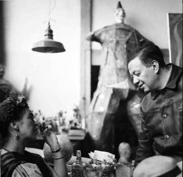 27.Diego-y-Frida-compartiendo-la-mesa-en-San-A¦u_ngel