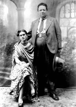 31 Wedding Photo of Diego Rivera and Frida Kahlo 21 August 1929