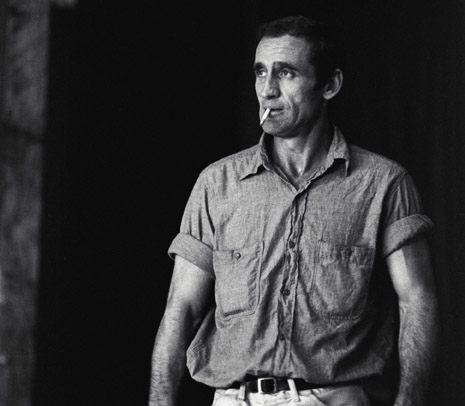 Oct. 1996, San Francisco, California, USA --- Neal Cassady of the Merry Pranksters smokes a cigarette. Cassady is best known as the main character of Jack Kerouac's semi-autobiographical novels On The Road and Visions of Cody. --- Image by © Ted Streshinsky/CORBIS