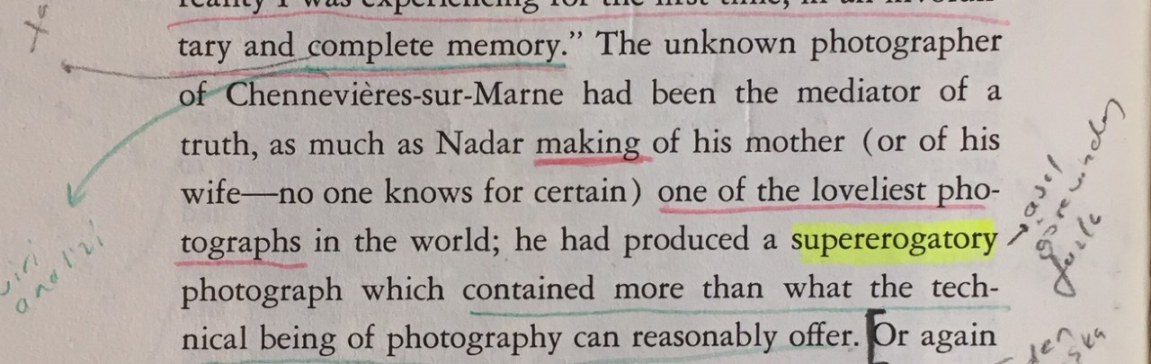 Camera Lucida, Reflections on Photography, Roland Barthes, Translated by Richard Howard, Hill and Wang, 1982._28